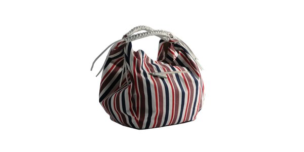 Dámska pruhovaná kabelka Red Hot