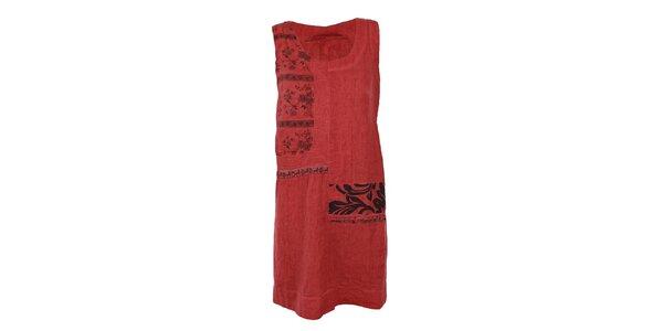 Dámske červené ľanové šaty Angels Never Die