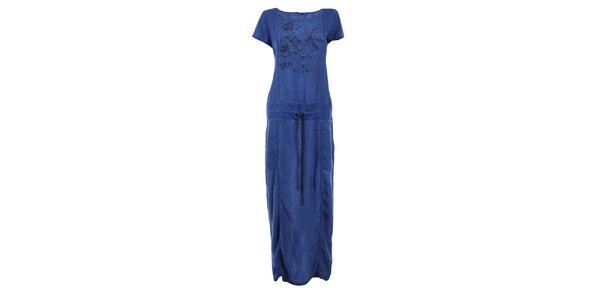 Dámske tmavo modré dlhé šaty Angels Never Die