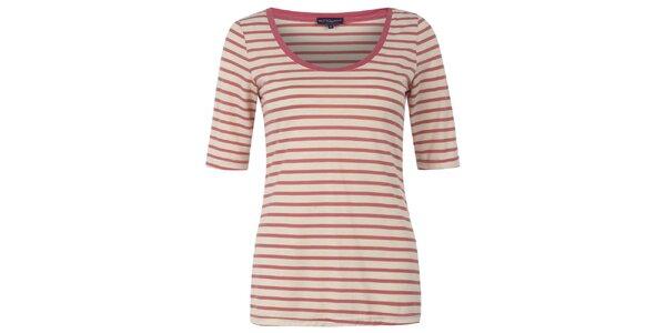 Dámske korálovo pruhované tričko Hot Squash