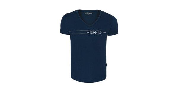 Pánske modré véčkové tričko Giorgio di Mare