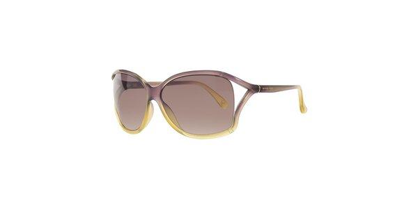 Dámske fialovo-žlté slnečné okuliare Michael Kors