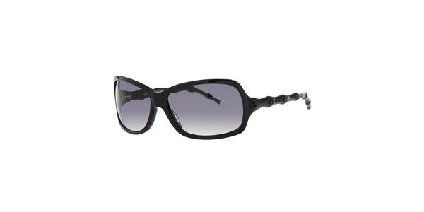 Dámske čierne slnečné okuliare Michael Kors s ozdobnými stranicami