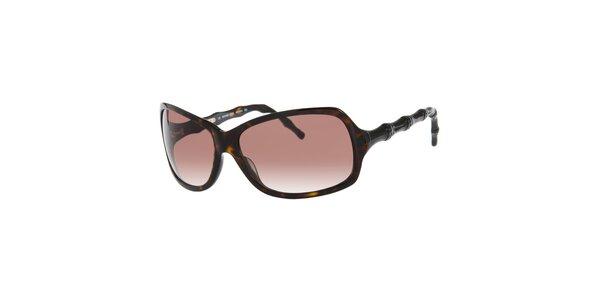 Dámske korytnačie slnečné okuliare Michael Kors s ozdobnými stranicami