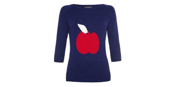 Dámsky tmavo modrý sveter s jabĺčkom Fever
