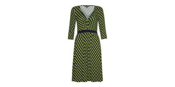 Dámske šaty so zelenými jabĺčkami Fever