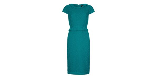 Dámske modrozelené šaty s volánom Fever