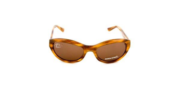 Hnede žíhané slnečné okuliare Sonia Rykiel