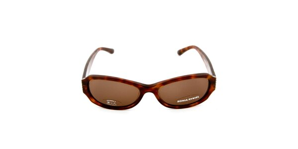 Tmavo hnedé slnečné okuliare so žíhaním Sonia Rykiel