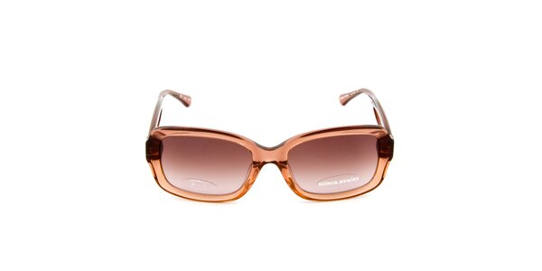 Hnedé transparentné slnečné okuliare Sonia Rykiel