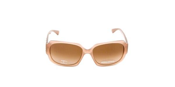 Hranaté slnečné okuliare v béžovej farbe Sonia Rykiel
