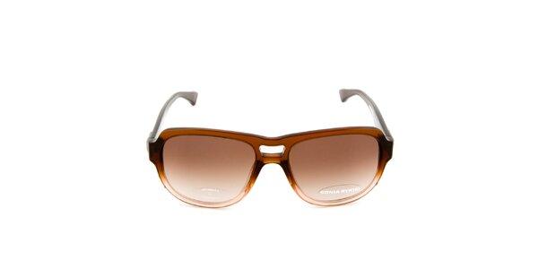 Tmavo hnedé slnečné okuliare Sonia Rykiel