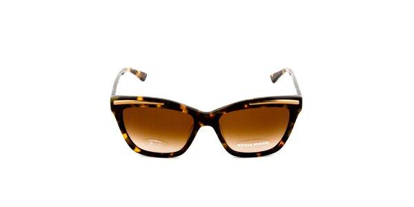 Hnedé slnečné okuliare so žíhaním Sonia Rykiel