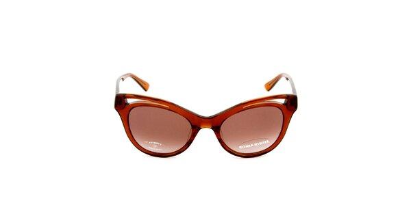Dámske retro transparentné slnečné okuliare Sonia Rykiel