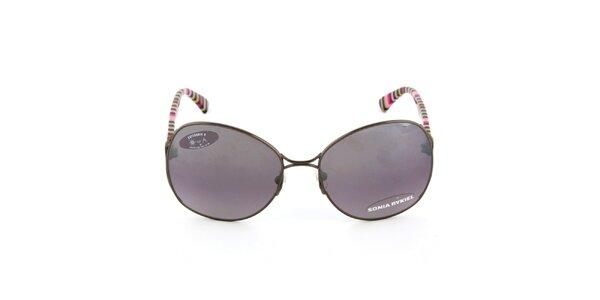 Kovové slnečné okuliare s pruhovanými stranicami Sonia Rykiel