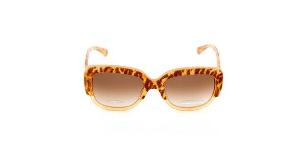 Béžovo-hnedé slnečné okuliare Sonia Rykiel