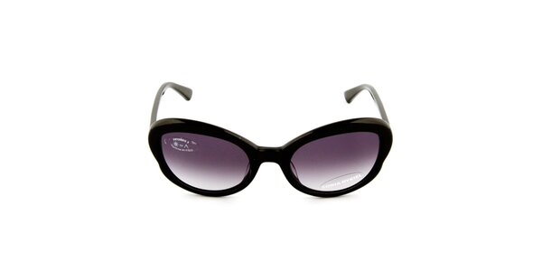 Dámske čierne slnečné okuliare s gradientnými čiernymi sklíčkami Sonia Rykiel