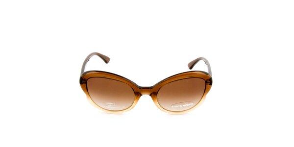 Dámske hnedé transparentné okuliare s hnedými sklíčkami Sonia Rykiel