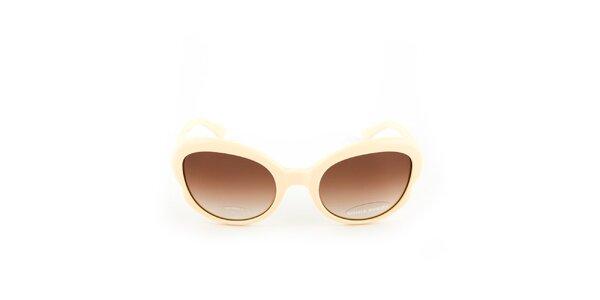 Béžové slnečné okuliare s gradientným efektom Sonia Rykiel