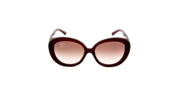 Dámske retro vínové slnečné okuliare s hnedými sklíčkami Sonia Rykiel
