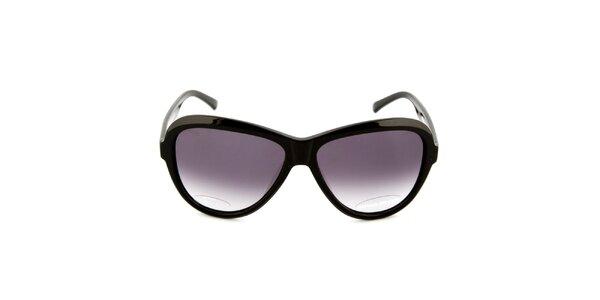 Dámske čierne slnečné okuliare s čiernymi sklíčkami Sonia Rykiel