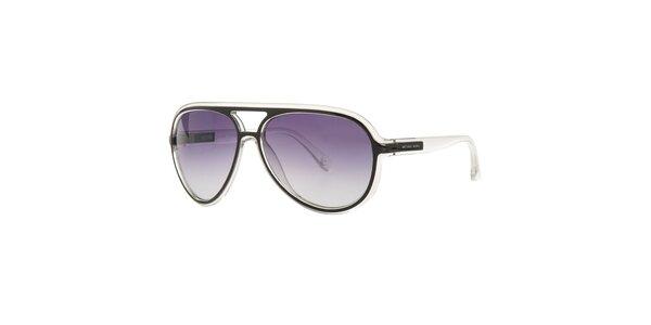 Dámske transparentné slnečné okuliare Michael Kors s čiernymi detailami