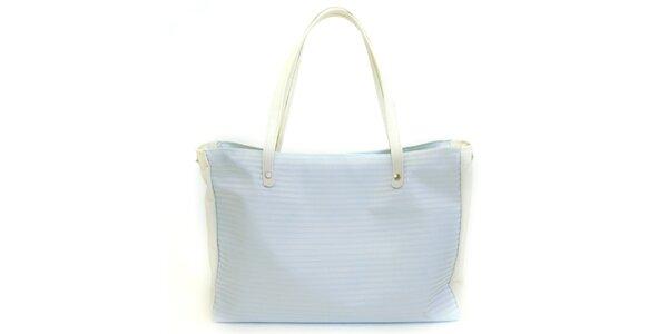 Dámska kabelka so svetlo modrými prúžkami Bellemarie