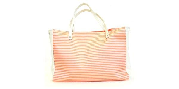 Dámska kabelka s oranžovými prúžkami Bellemarie