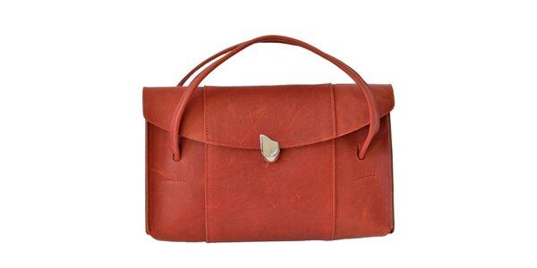 Dámska červenooranžová kabelka Bellemarie