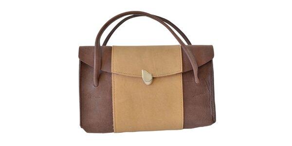 Dámska hnedo-béžová kabelka Bellemarie