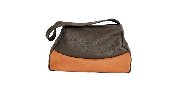 Dámska kožená dvojfarebná kabelka Bellemarie