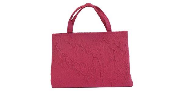 Dámska fuchsiová kabelka s krčeným efektom Bellemarie