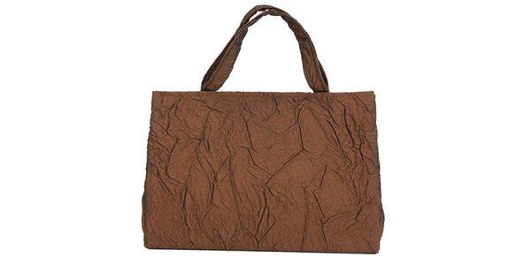 Dámska bronzová kabelka s krčeným efektom Bellemarie
