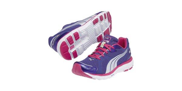 Dámske modrofialové športové tenisky Puma