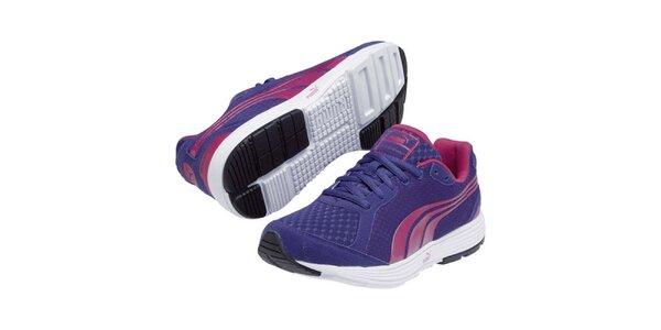 Dámske fialovomodré športové tenisky s farebnými detailmi Puma