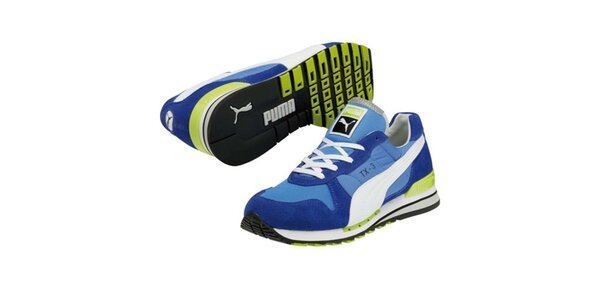 Modré tenisky s kontrastnými prúžkami Puma