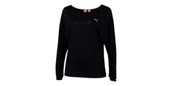 Dámske čierne športové tričko s potlačou Puma