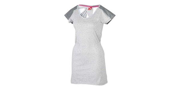 Dámske šedé športové šaty Pma