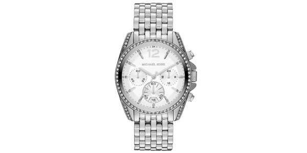 Dámske oceľové hodinky so zirkónmi Michael Kors
