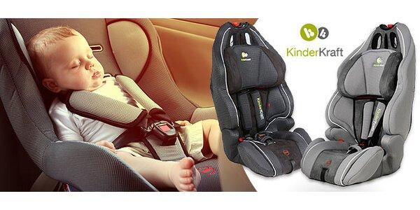 Detské autosedačky KinderKraft - šedej, alebo čiernej farbe