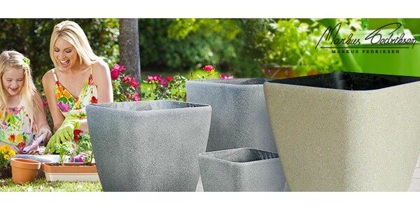 Plastové kvetináče Vanda – vzhľad pieskovca