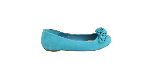 Dámske azúrovo modré balerínky Cubanas Shoes