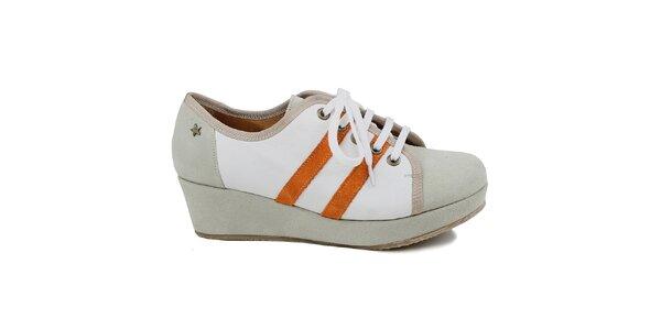 Dámske šedé tenisky na platforme Cubanas Shoes