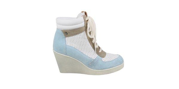 Dámske modro-biele vyššie tenisky na kline Cubanas Shoes