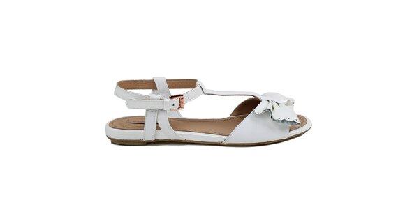 Dámske biele sandálky s mašľou Cubanas Shoes