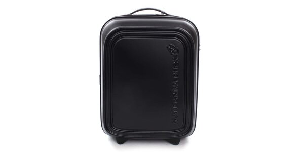 Čierny cestovný kufor s TSA zámkom Mandarina Duck