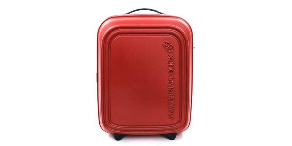 Červenooranžový cestovný kufor s TSA zámkom Mandarina Duck