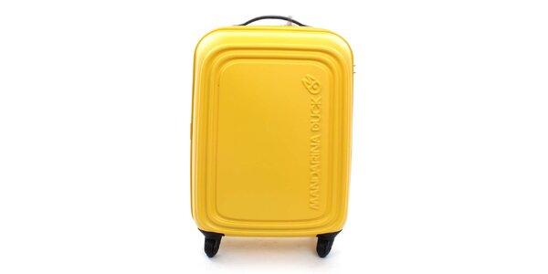 Stredne veľký žltý kufor na kolieskach a s TSA zámkom Mandarina Duck