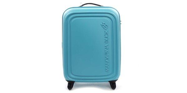 Veľký tyrkysový kufor na kolieskach a s TSA zámkom Mandarina Duck