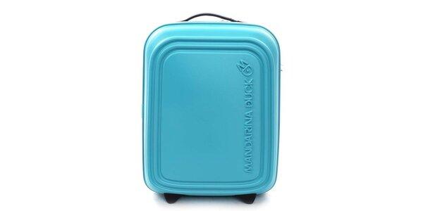 Tyrkysový cestovný kufor s TSA zámkom Mandarina Duck